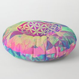 Flower Of Life (Midst Of Abstraction) Floor Pillow