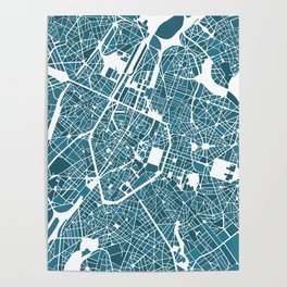Brussels City Map I Poster