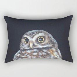 Owl's Full Moon Rectangular Pillow
