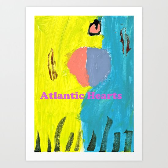 Atlantic Hearts Art Print