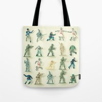 army Tote Bags featuring Broken Army by Cassia Beck