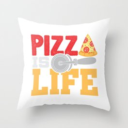 Pizza Is Life Italy Italian Food Foodie Gift Throw Pillow
