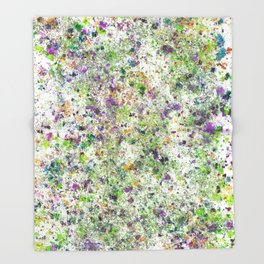 Abstract Artwork Colourful #5 Throw Blanket