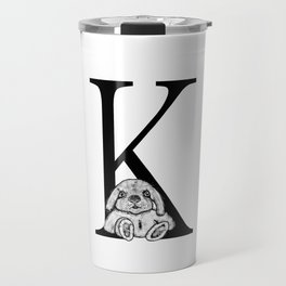 K letter Travel Mug