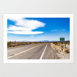 Highway Road Cutting through the Anza Borrego Desert Badlands & Entering San Diego County Sign Art Print