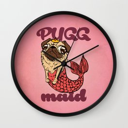 Pugg maid Wall Clock