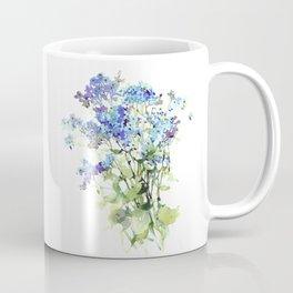 Forget-me-not watercolor aquarelle flowers Coffee Mug