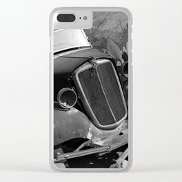 Old, rusted car Clear iPhone Case
