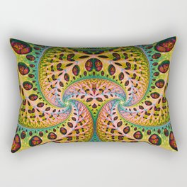 Wild Fiber. Colorful Abstract Pattern Rectangular Pillow