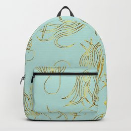 Gold Squid (Mint) Backpack
