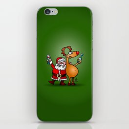 Santa Claus and his Reindeer iPhone Skin