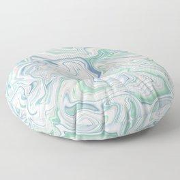 Love Spell Marble Green Blush Pink Blue Floor Pillow