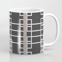 Midcentury Modern Geometric Brown Coffee Mug
