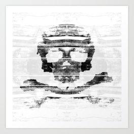 Bitter Bone Skull Art Print