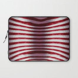Red and White Organic Rib Cage Laptop Sleeve