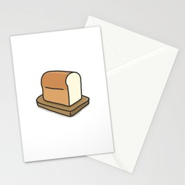 Plain white loaf of bread Stationery Cards