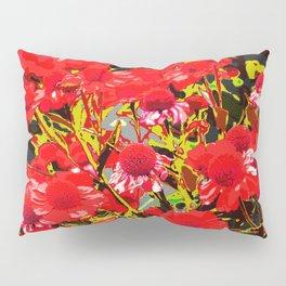 Red flowers garden Pillow Sham