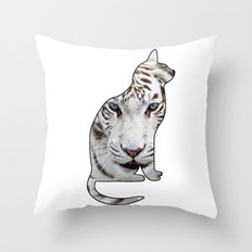 White cats. Throw Pillow