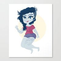 marceline Canvas Prints featuring Marceline by Pilotinta