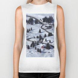 Mountain Winter Landscape Biker Tank