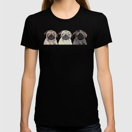 Triple Pugs T-shirt