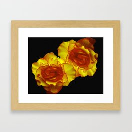 Sunshine Begonias Framed Art Print