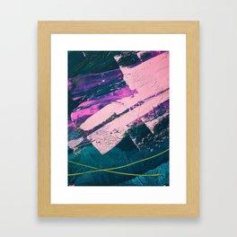 Wonder. - A vibrant minimal abstract piece in jewel tones by Alyssa Hamilton Art Framed Art Print