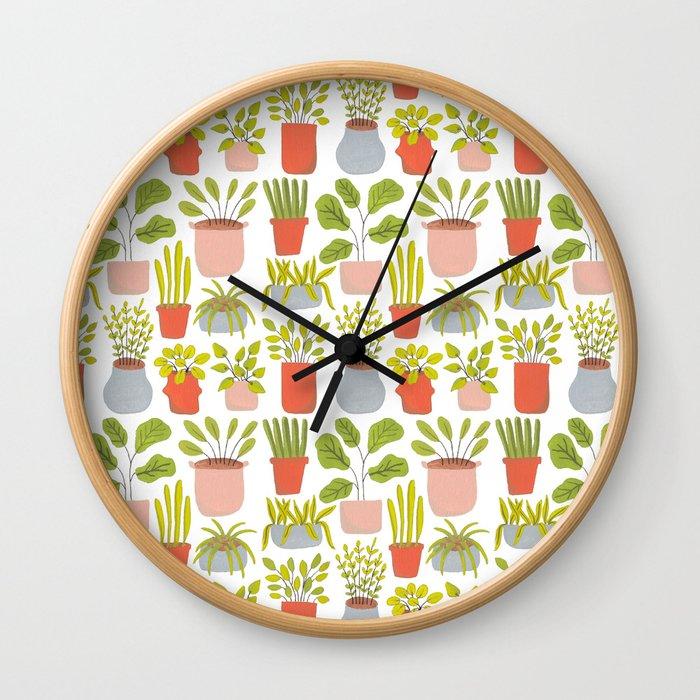 Tiny Plants Wall Clock