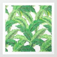 banana leaf Art Prints featuring Banana for banana leaf by Indulgencedecor