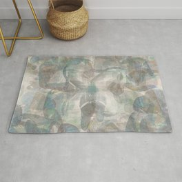 Whispers Grey Blue Abstract Rug
