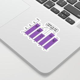 Data Analysis Science Nerd Geek Sticker