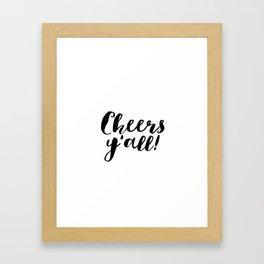 Party Like Gatsby Inspirational Quotes Wall Art Print Cheers Yall Printable Art Celebration Life Bar Framed Art Print