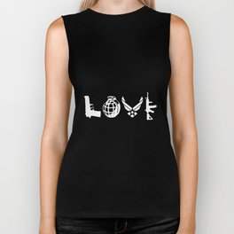 air force love airman hunt Biker Tank