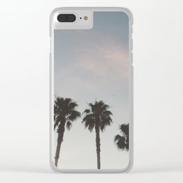 Vegas Palm Trees Clear iPhone Case