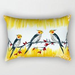Cockatiels Rectangular Pillow