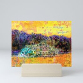 Spirit of Peoria cruising the river Mini Art Print