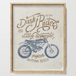 Dusty Riders Vintage Motorcycles Serving Tray