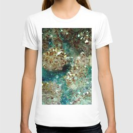 SPARKLING GOLD AND TURQUOISE CRYSTAL T-shirt