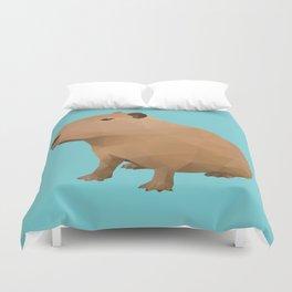 Capybara Polygon Art Duvet Cover