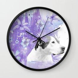 Sugarplum Pitbull Wall Clock