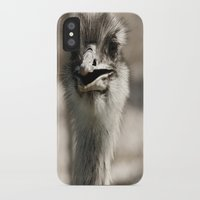 ostrich iPhone & iPod Cases featuring Ostrich by Raymond Earley