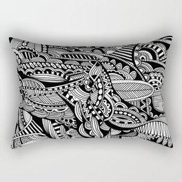 Black and White Doodle Art #1 Rectangular Pillow