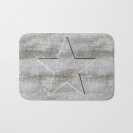 Solid Star in grey conrete Bath Mat