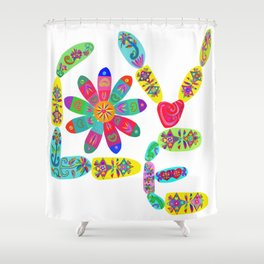 Love is the Real Deal Shower Curtain