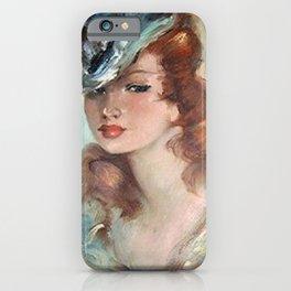 Belle Jeune Femme à Paris, female portrait painting iPhone Case