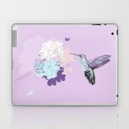 Lavender hummingbird and flower watercolor Laptop & iPad Skin