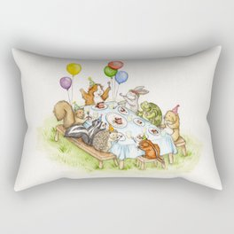 Birthday Party Picnic Rectangular Pillow