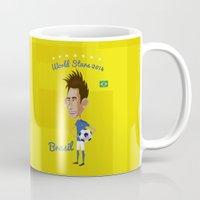 brasil Mugs featuring World Stars 2014 (brasil) by Dani Bernal