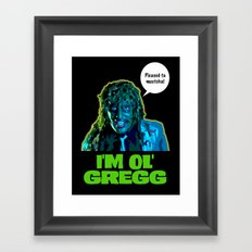 Old Gregg Framed Art Print