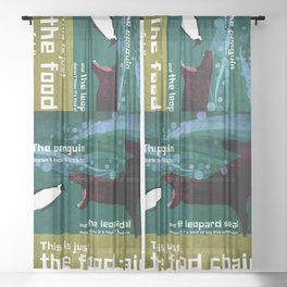 food chain 7 Sheer Curtain
